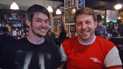 Die Gastgeber Steve and Brett